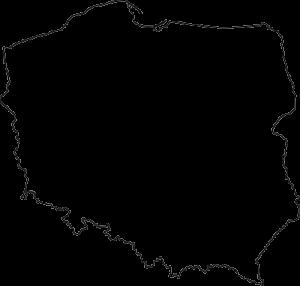 Półprzeźroczysty kontur mapy polski