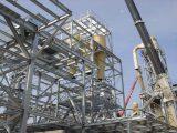 Prace nad konstrukcją stalową w toku